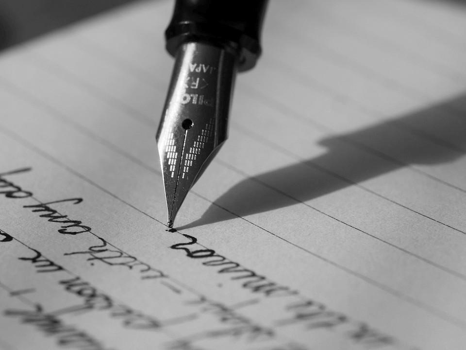 stylo plume manuscrit écrire